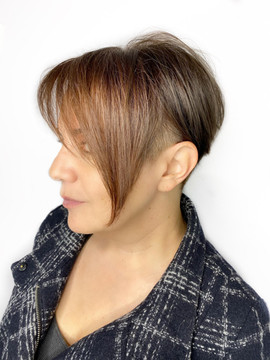 Color blocking & undercut by Gina and Sara