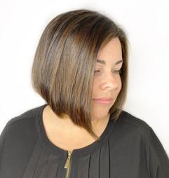hihglihgt, gloss, and haircut by Gina!