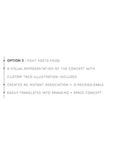 Option 3 | Font Meets Food