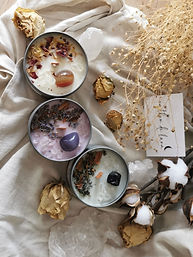 Infusion-Intention-Chakra-Crystal-Candles---created-by-Earthen-de-Luna,-Hervey-Bay-Austral