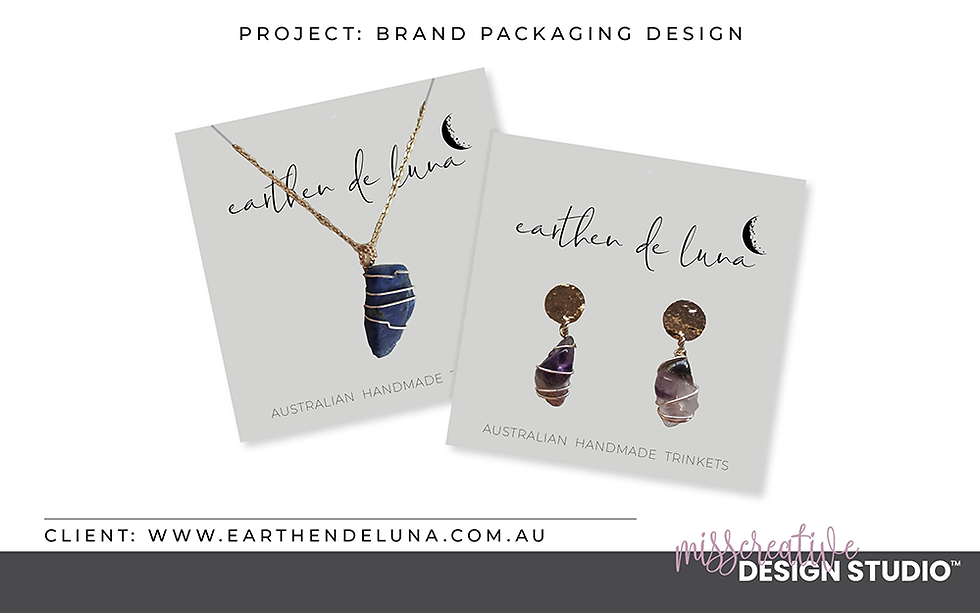 Brand Packaging Design, Graphic Design, MissCreative Design Studio Portfolio
