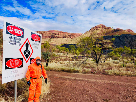 Replacement of Warning signs at Wittenoom