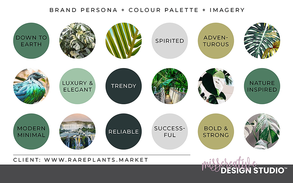 Logo Design, Brand Identity, Colour Palette, Brand Persona, Brand Imagery, MissCreative Design Studio Portfolio