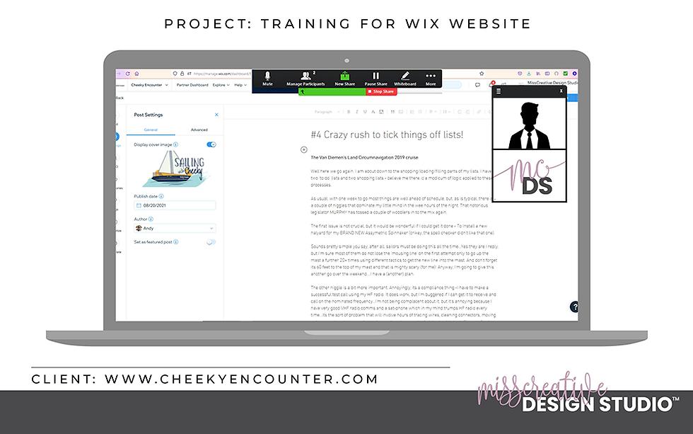 Wix Website Training, Hire a Professional, Wix Partner, Web Design, MissCreative Design Studio