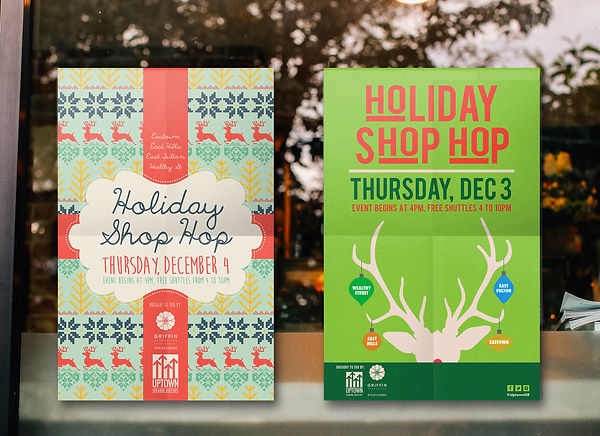 Shop Hop Holiday Poster
