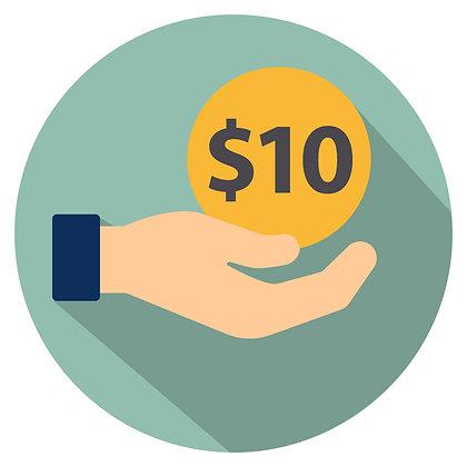 Donation: $10