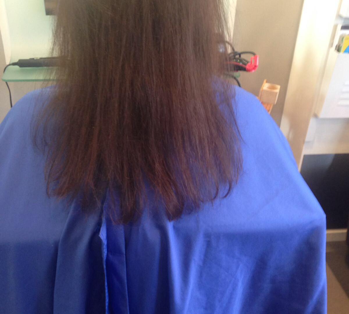 before foto donkerbruin dun haar