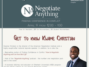 April Friday Forum Speaker Announcement: Kwame Christian