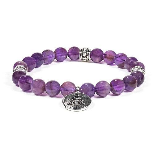 Bracelet améthyste Bouddha