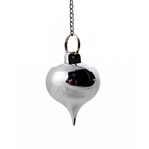 Pendule en laiton chromé avec réceptacle
