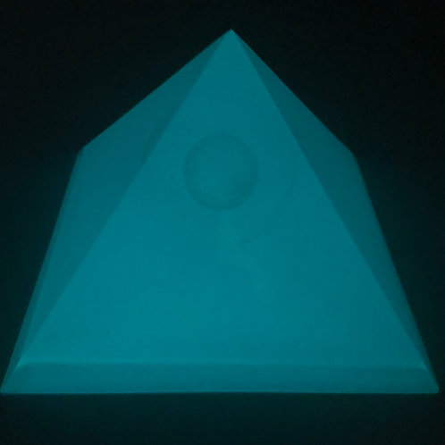 Pyramide Fleur de Vie Phosphorescence
