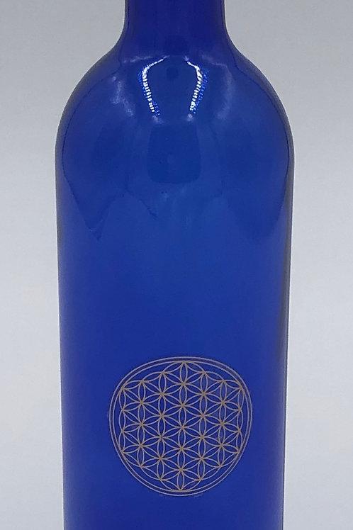 Bouteille Bleu Cobalt 75 cl Fleur de vie
