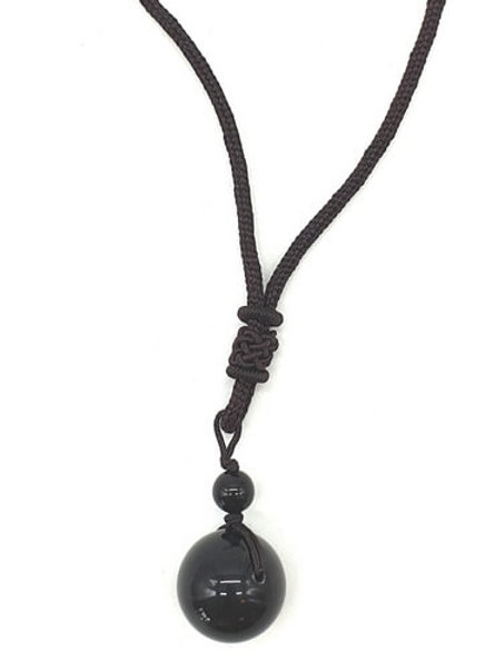 Collier Obsidienne Arc-en-Ciel extra 16mm