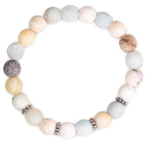 Mala/Bracelet en Amazonite élastique