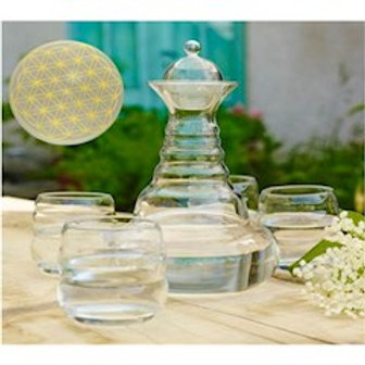 Carafe Vital Water Alladin + 4 verres Mythos or