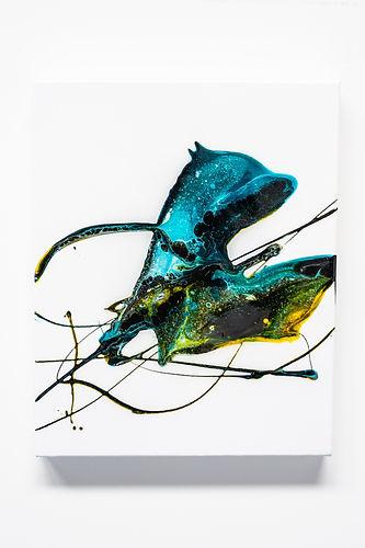 'Bubblegum Black' 50cm x 40cm Acrylic &