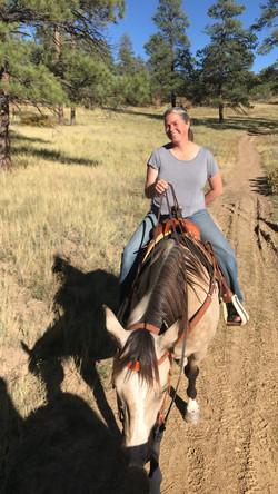 kelly gabbard on horse