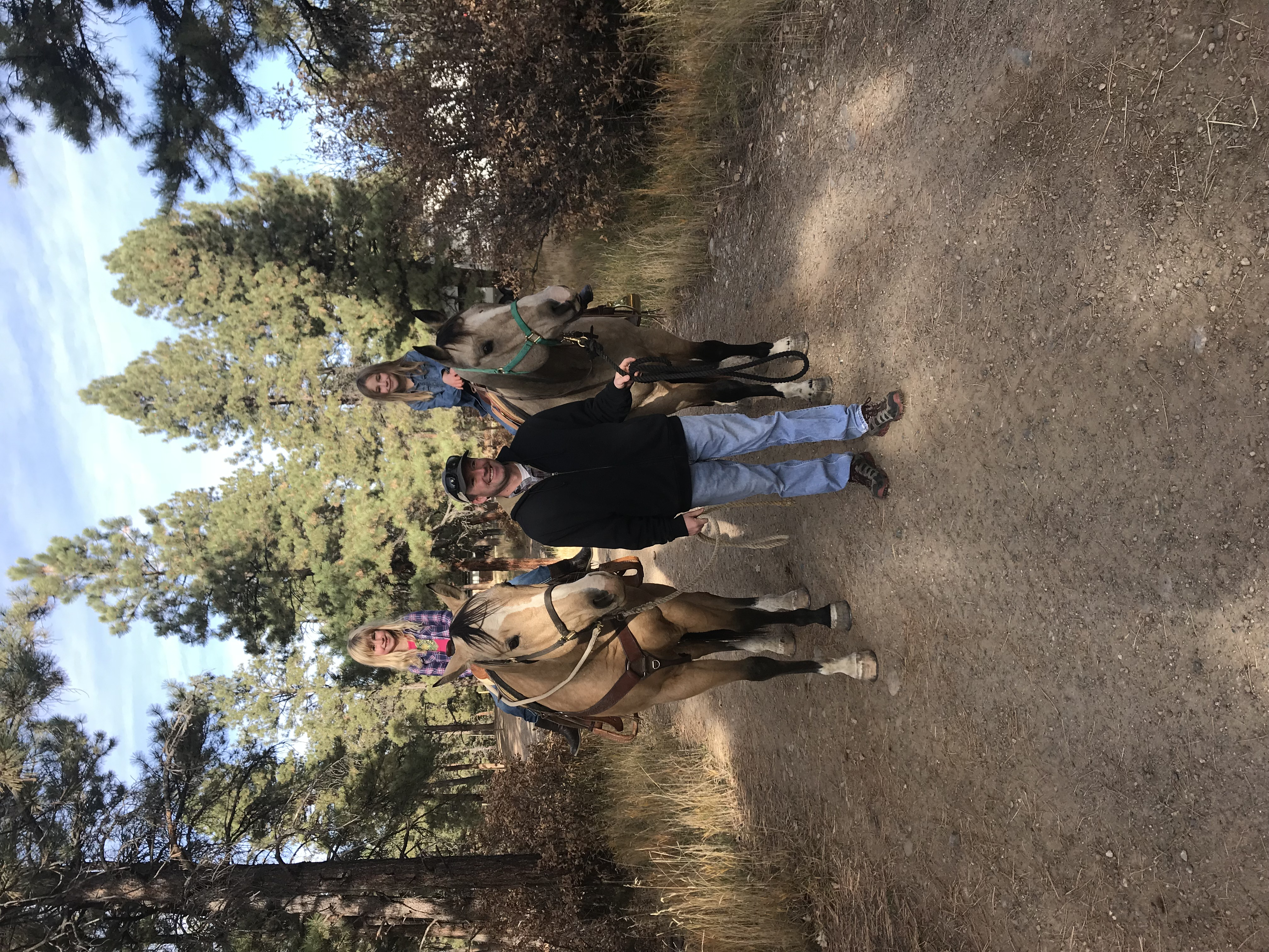 Trail ride at Sauls Creek Stables
