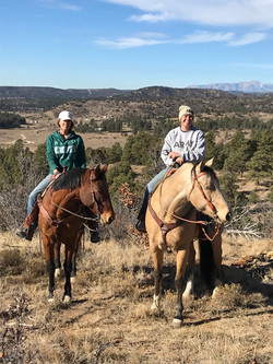 trail ride break with a view