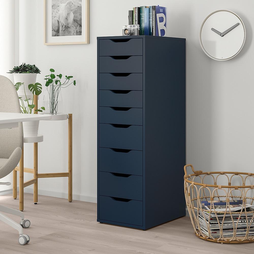 Caisson-tiroirs-ALEX-IKEA-bureau