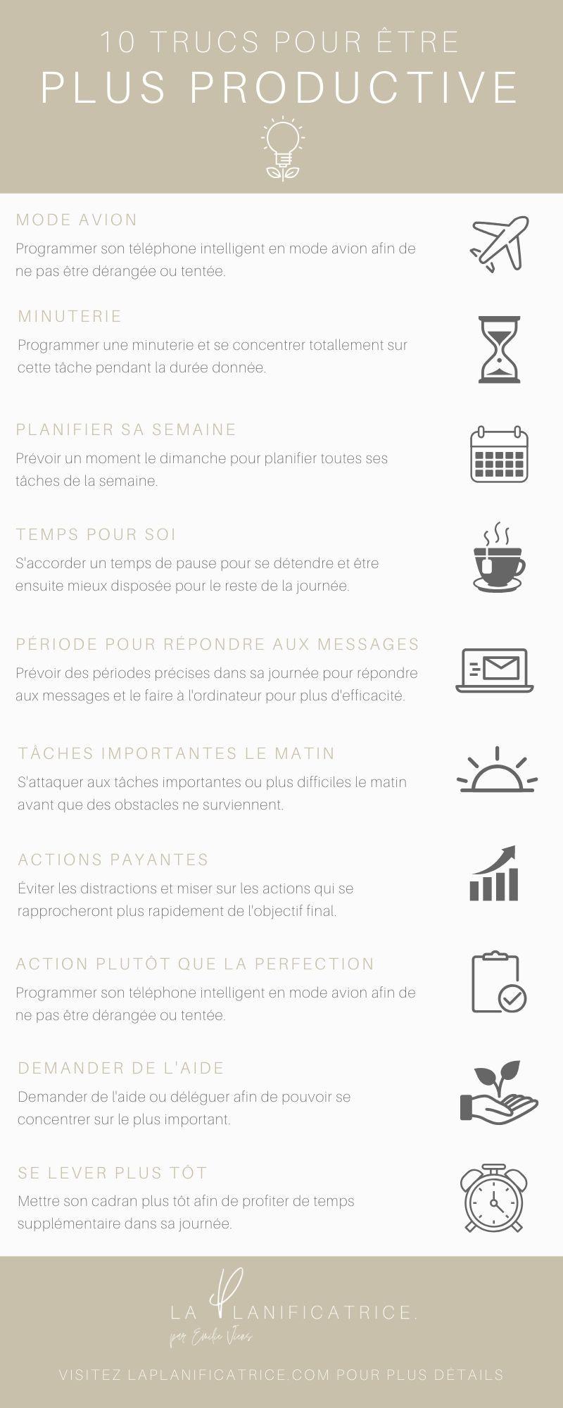10 trucs afin d'être plus productif - PDF