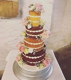 Naked 4 Tiered Cake
