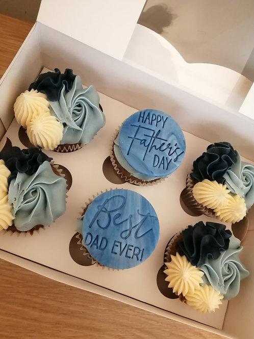 Fathers Day 12x Cupcake Box