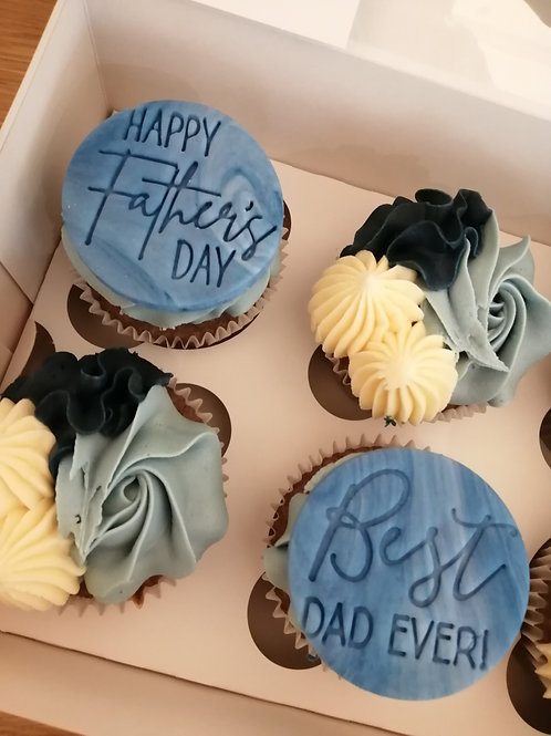 Fathers Day 4x Cupcake Box