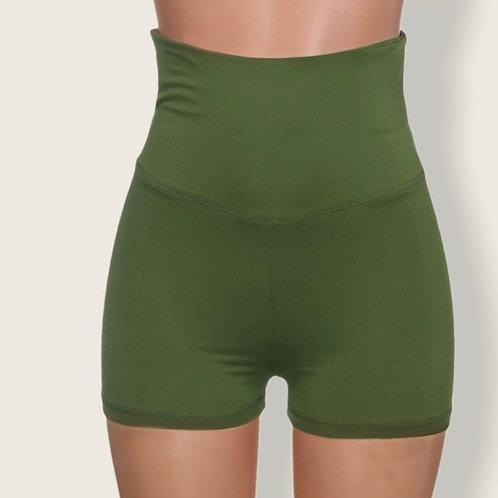 Short pantalón Scrunch butt verde.