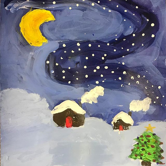 Love these winter scenes by 4th grade cl
