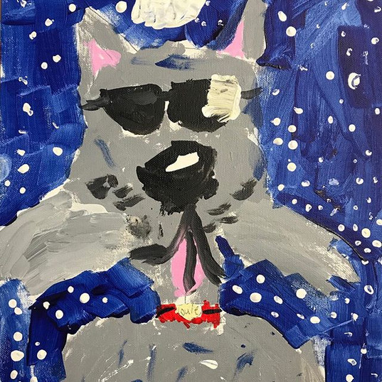"""This is """"Louie"""" painted today by Kiera -"""