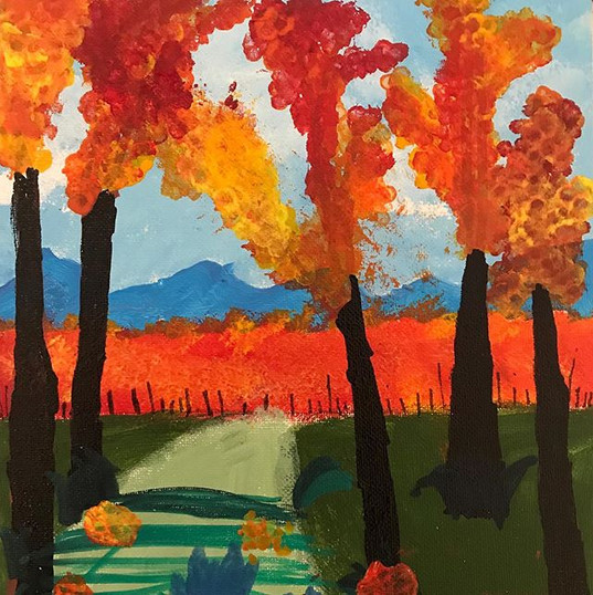 A little fall painting for a beautiful f