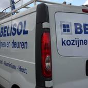 Belisol bedrijfswagen reclame