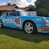 Porsche 911 in 3M carwrap met originele racing styling