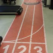 Full color op vloer voorzien van antie slip laminaat