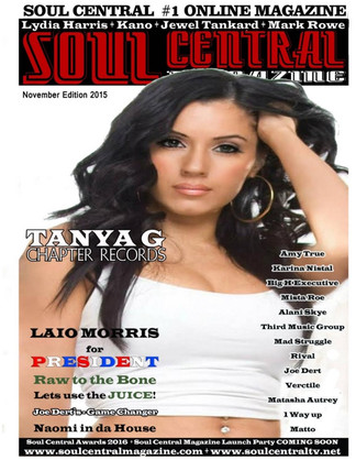 TANYA BRINGS THE FIRE ON THE COVER OF SOUL CENTRAL MAGAZINE