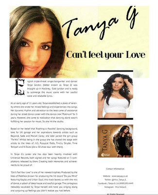 TANYA G FEATURES IN BWD MAGAZINE