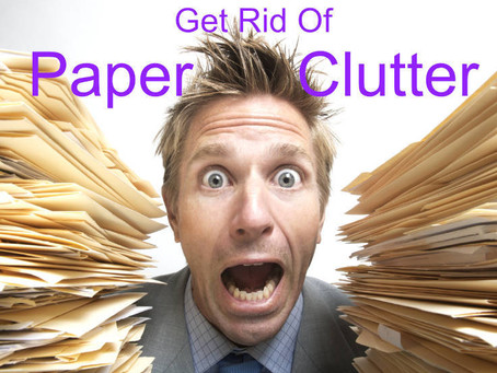 Get rid of your paper clutter