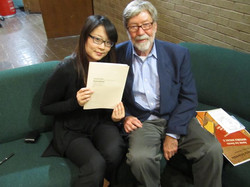 With composer Andrew Rudin
