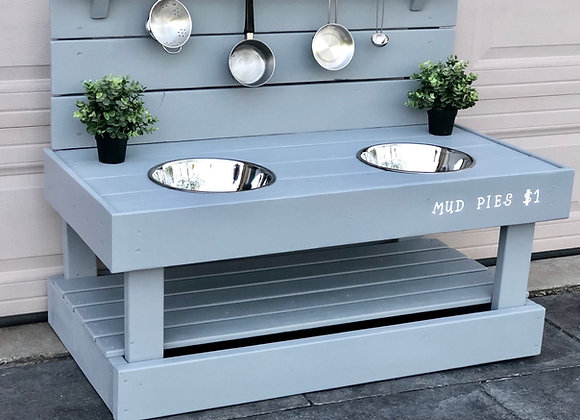 Outdoor Painted Kitchen with Two bowls and Base