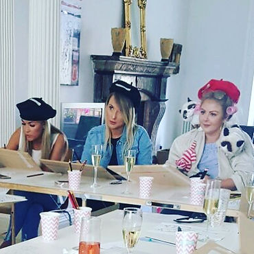 Hen party life drawing class by The Scarlet Pen