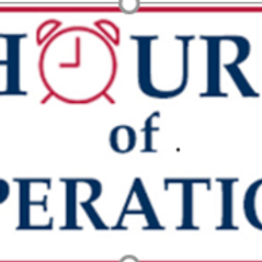 2021 Hours of operation