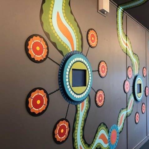 Koori Room Interactive Mural - Briar Road Public School