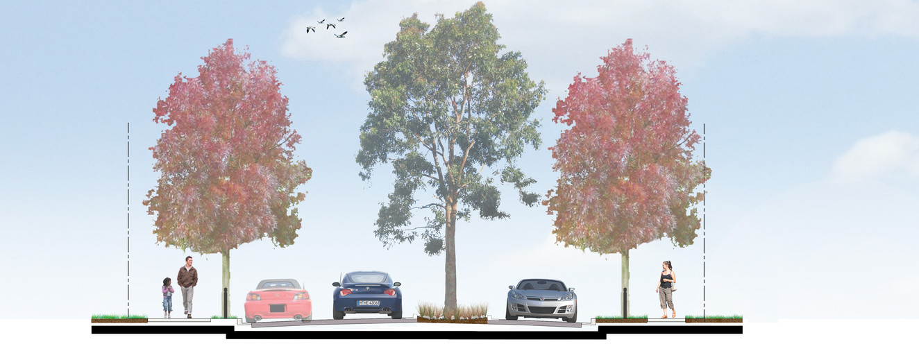 50-15 Streetscape Section 18.3m wide wit