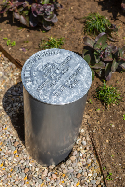 Time capsule at Bedford Heights for Texas Instruments reunion in 2019.