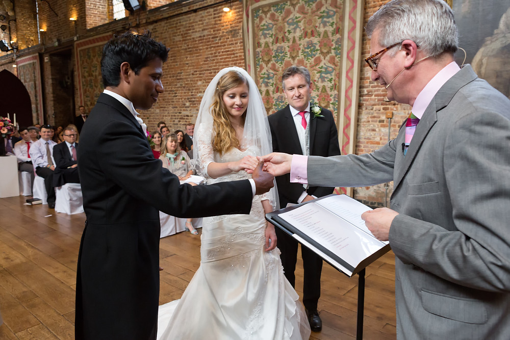 Bride & Groom getting married in the Old Place Hatfield House.