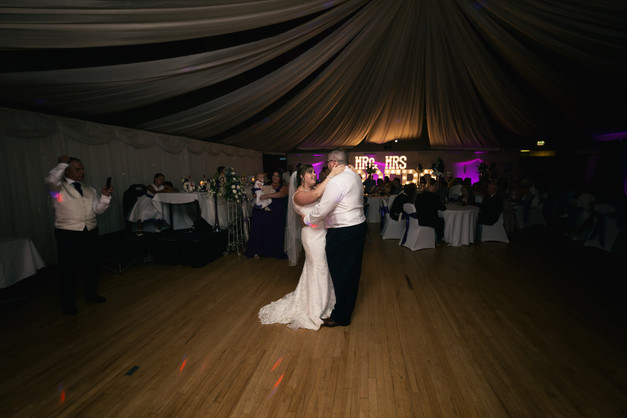 First dance in a vintage style picture.