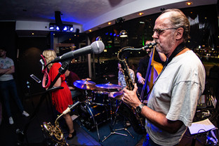 Saxophone play with the Mooncats playing in Kidderminster UK.