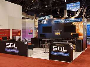 Exhibition stand at NAB Las Vegas