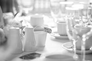 Wedding Breakfast table display.